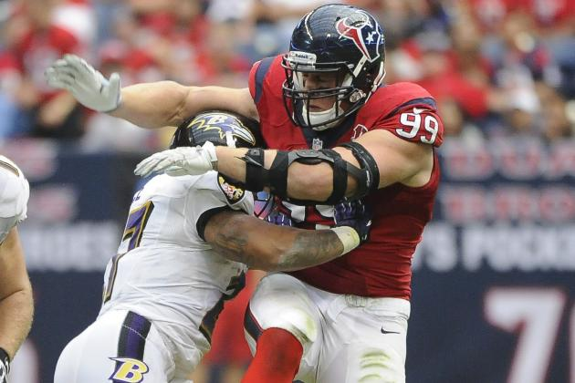 Mic'd Up J.J. Watt to Ray Rice: 'I've Eaten Burritos Bigger Than You'