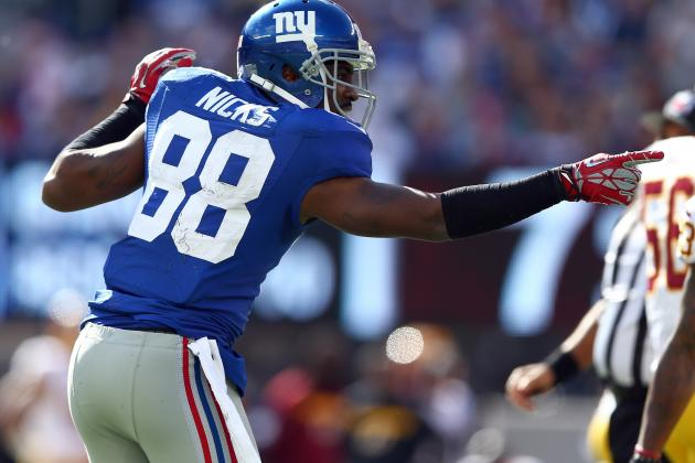 Hakeem Nicks: Projecting Giants WR's Impact vs Cowboys in Week 8