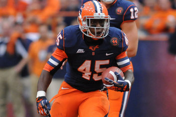 Syracuse Tailback Adonis Ameen-Moore Exits Lineup with a Lower-Body Injury