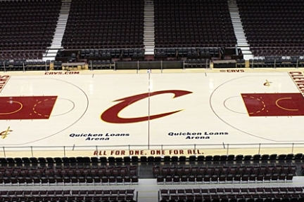 New Cavs Court Is Cool, Clean, Classic