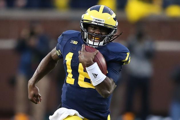 Michigan QB Denard Robinson Returning Kicks? Brady Hoke Coy About Strategy