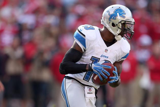 Lions Look at Receivers with Nate Burleson Out