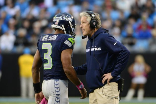 Pete Carroll Pleased with Rookie QB Russell Wilson