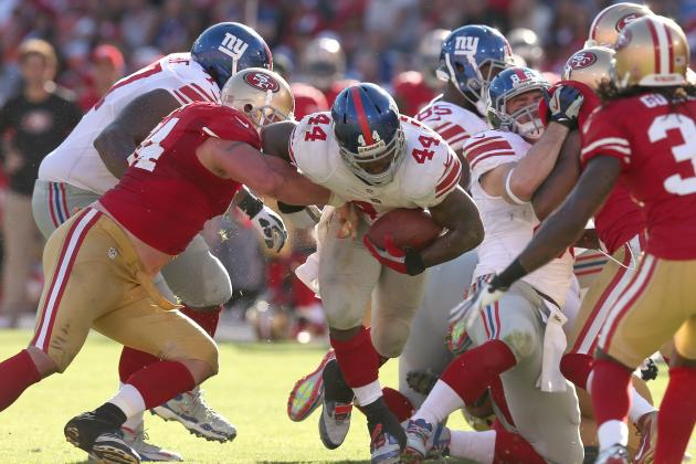 Ahmad Bradshaw: Giants RB Is Risky Fantasy Play vs. Cowboys in Week 8