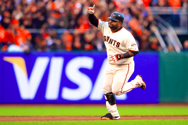 Pablo Sandoval Hits 3 Bombs in Game 1 of World Series vs. Tigers