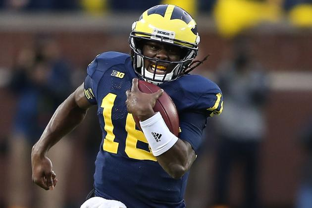 Brady Hoke Would Be Foolish to Keep Michigan QB Denard Robinson on Kick Returns