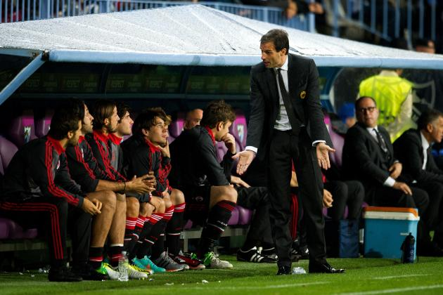 AC Milan Coach Massimiliano Allegri's Job at Risk Against Genoa