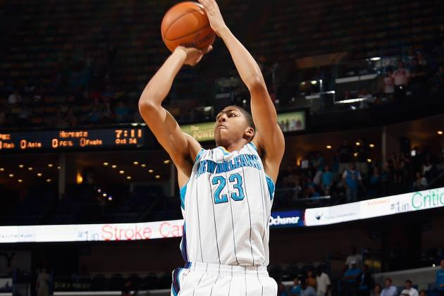 New Orleans Hornets Rookie Anthony Davis Scratching Surface of His Potential