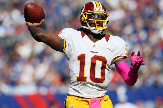 Robert Griffin III: Redskins' Rookie QB Is Top 5 Fantasy Option in Week 8