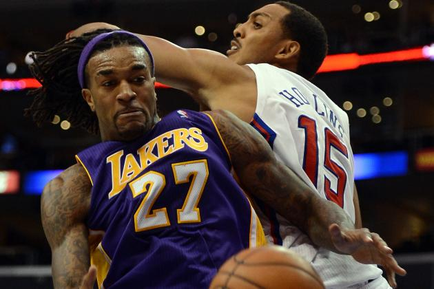 Jordan Hill Trying to Catch Up with Lakers Teammates