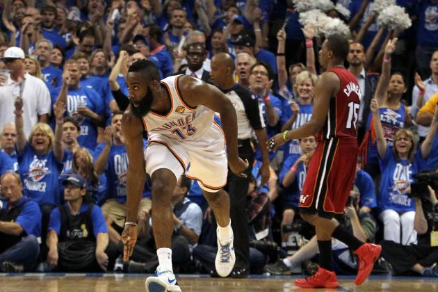 Is James Harden or Serge Ibaka More Important to OKC Thunder's Title Hopes?