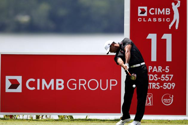 Tiger Woods at CIMB Classic 2012: Day 2 Highlights, Analysis and More