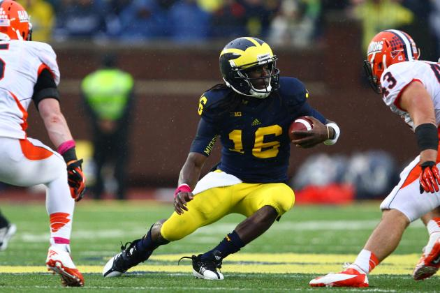 Denard Robinson Could Return Kicks