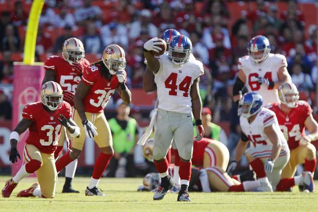 Ahmad Bradshaw: Assessing Giants RB's Week 8 Fantasy Value