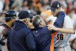 Tigers' Pitcher Fister Takes Line Drive to the Head, Stays in Game