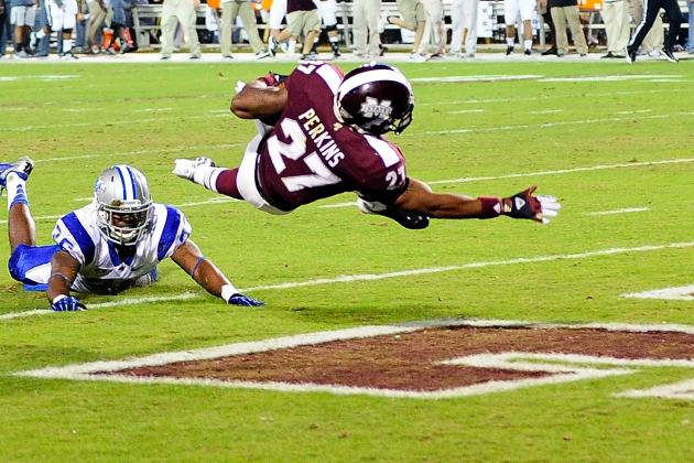 Mississippi State's Perkins to Clash with Nation's Top Rush Defense
