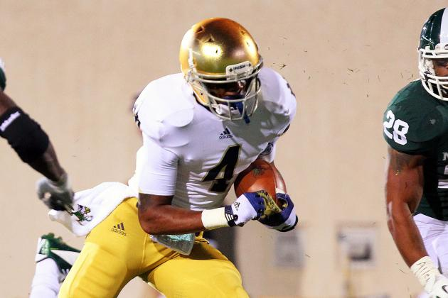 Notre Dame Football: RB George Atkinson III out vs. Oklahoma Due to Illness