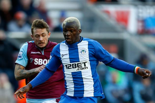 EPL: Wigan Cruise to 2-1 Home Victory over West Ham