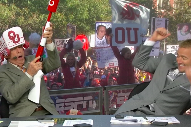 College GameDay 2012:  Lee Corso Picks the Sooners