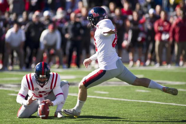 Ole Miss Beats Arkansas 30-27 with Field Goal as Time Expires