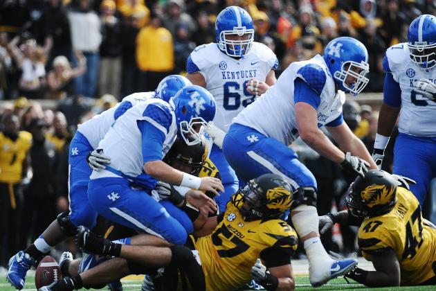 Kentucky vs. Mizzou: Wildcats Gift-Wrap First SEC Win for Tigers, 33-10