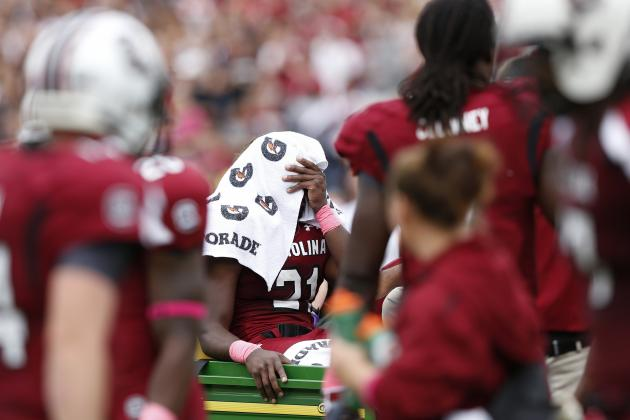 Marcus Lattimore Injury: Gruesome Play Brings Players, Fans, Announcer to Tears