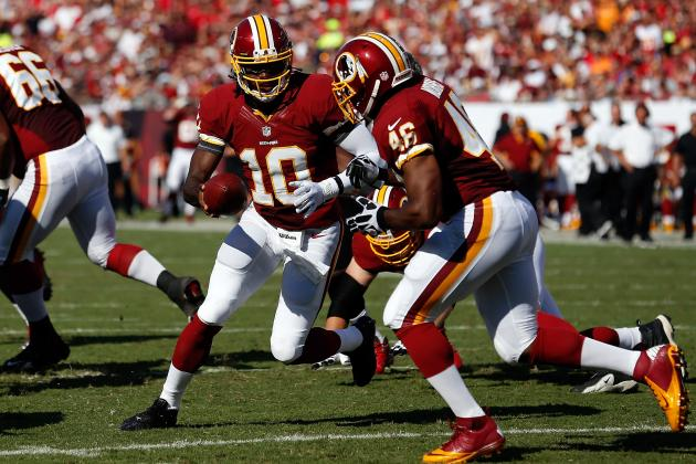 Redskins' Robert Griffin III and Alfred Morris on Pace for Historic Season