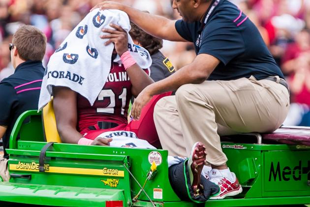 Marcus Lattimore Update: South Carolina Star Suffered Dislocated Knee