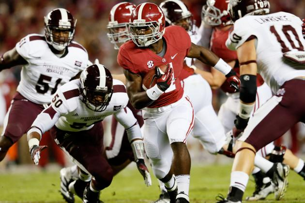 Freshman T.J. Yeldon Now Leads Alabama in Rushing
