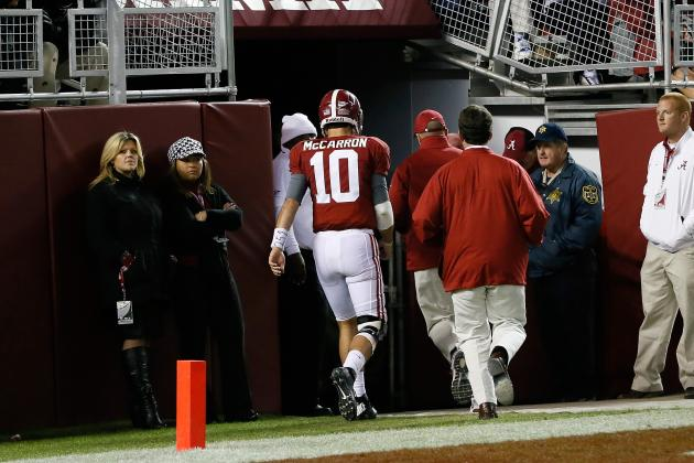 McCarron Suffers Back Contusion, Would Have Been Fine to Play, Saban Says