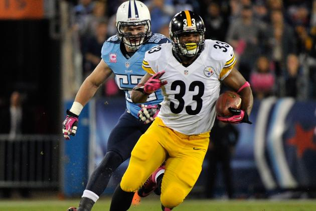 Mendenhall, Redman Inactive for Steelers