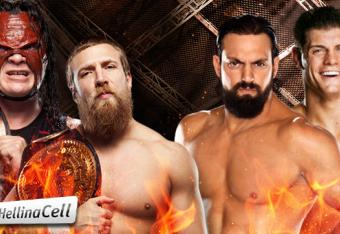 Team Hell No [c] vs Team Rhodes Scholars [Photo courtesy of wwe.com]