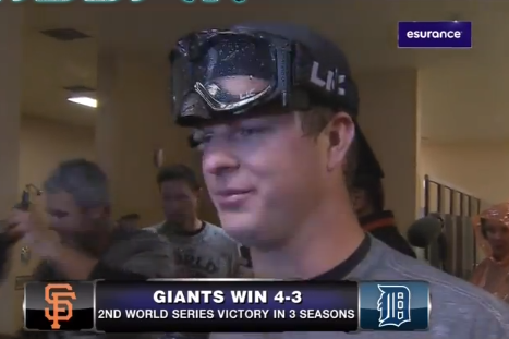 CSN Interviewed Matt Cain While a Urinating Ryan Theriot Looked on