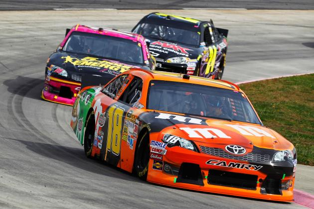 Kyle Busch Rallies to Challenge for Win