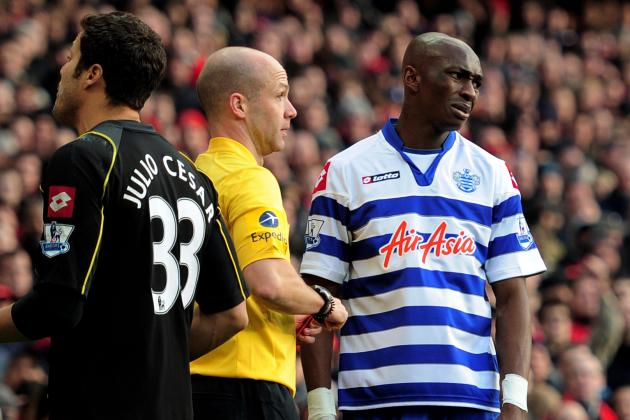 QPR Defender Stephane Mbia Sorry After Red Card Against Arsenal
