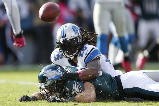 Lions Describe Louis Delmas as Day-to-Day After Knee Injury