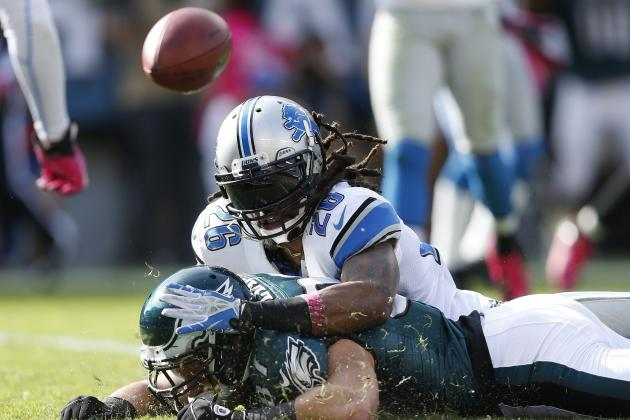 Lions Safety Louis Delmas Remains 'Day-to-Day' with Sore Left Knee