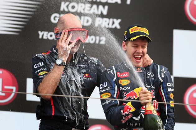 Fernando Alonso & Lewis Hamilton Credit Adrian Newey as Key to Vettel's Success