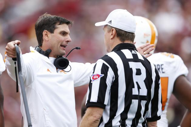 UT Coach Derek Dooley Defends Coordinator Sal Sunseri