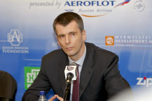 Prokhorov to 'Punish' Himself and Get Married If Nets Don't Win a Title Soon