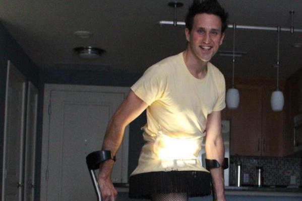 Halloween Belongs to Paralympic Ski Racer Who Dons Leg Lamp Costume