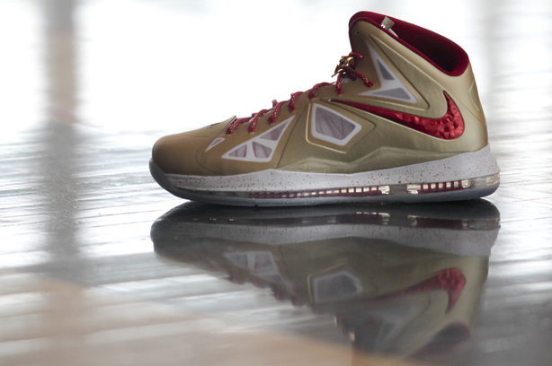 LeBron X Nike Shoes: Breaking Down the Gold Colorway for Opening Night
