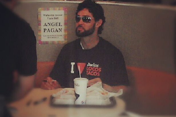 And Now, World Series Champ Angel Pagan At Taco Bell Eating Tacos
