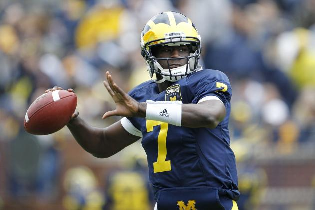 Michigan WR Devin Gardner in Quarterback Mix After Not Getting Reps in Weeks