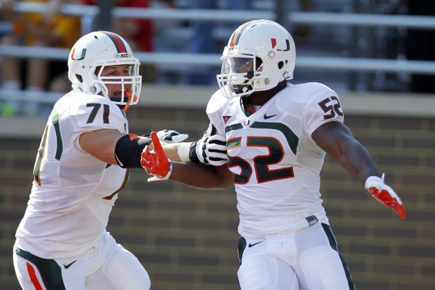 LB Denzel Perryman, the Hurricanes' second-leading tackler,...