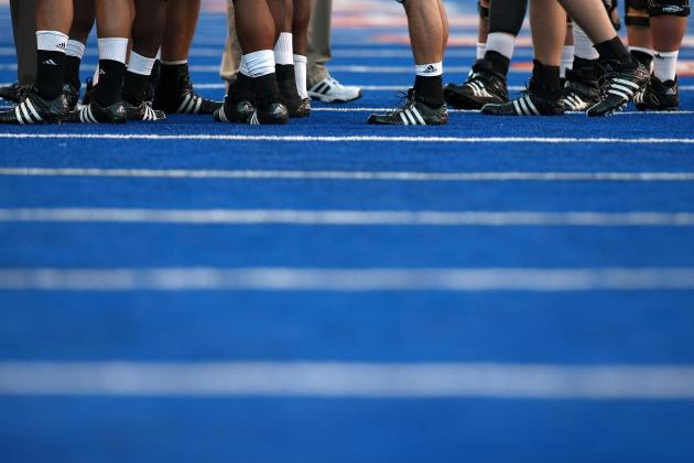 SDSU Practiced on Blue Turf During Fall Camp to Prepare Against Boise