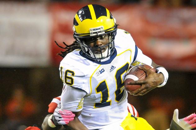Michigan Quarterback Denard Robinson Appears Ready to Go Against Minnesota
