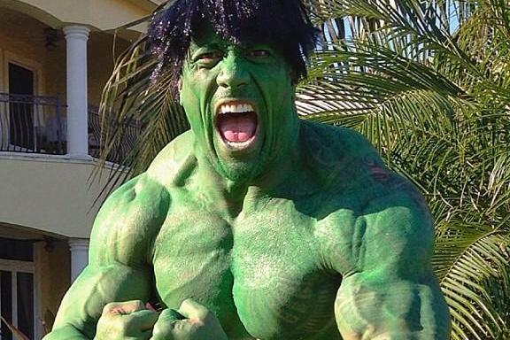 Dwayne 'The Rock' Johnson Annihilates Twitter with Halloween Hulk Costume