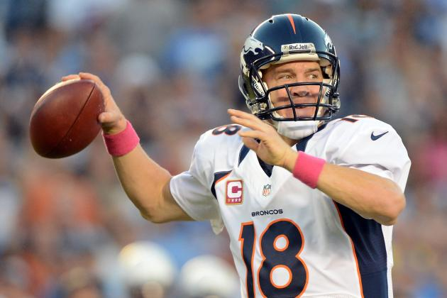 Peyton Manning Named AFC Offensive Player of the Month
