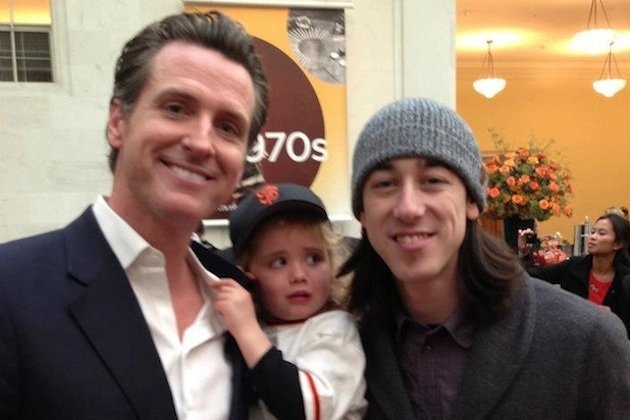 Tim Lincecum Scares and Frightens Gavin Newsom's Daughter